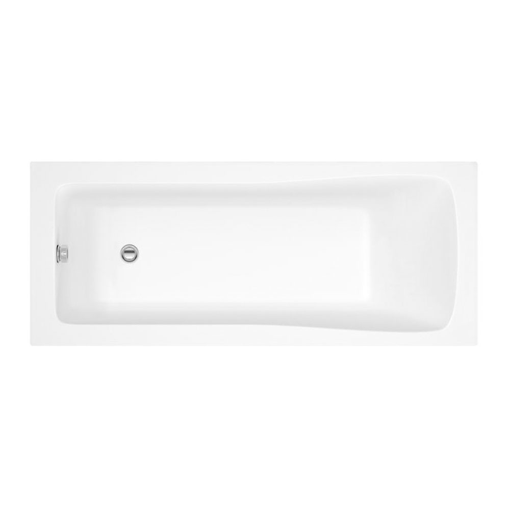 Montego Complete Bathroom Suite with 1800mm x 800mm Square Single Ended Bath-1
