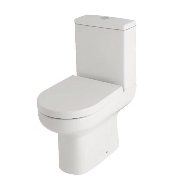 Neptune White Modern Bathroom Suite Toilet and Basin