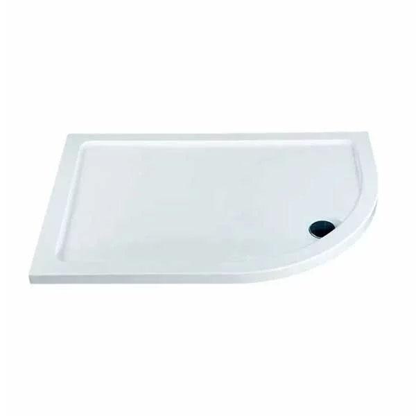 Studio Bathroom En-Suite with Offset Quadrant Shower Enclosure 1000mm x 800mm - Right Handed
