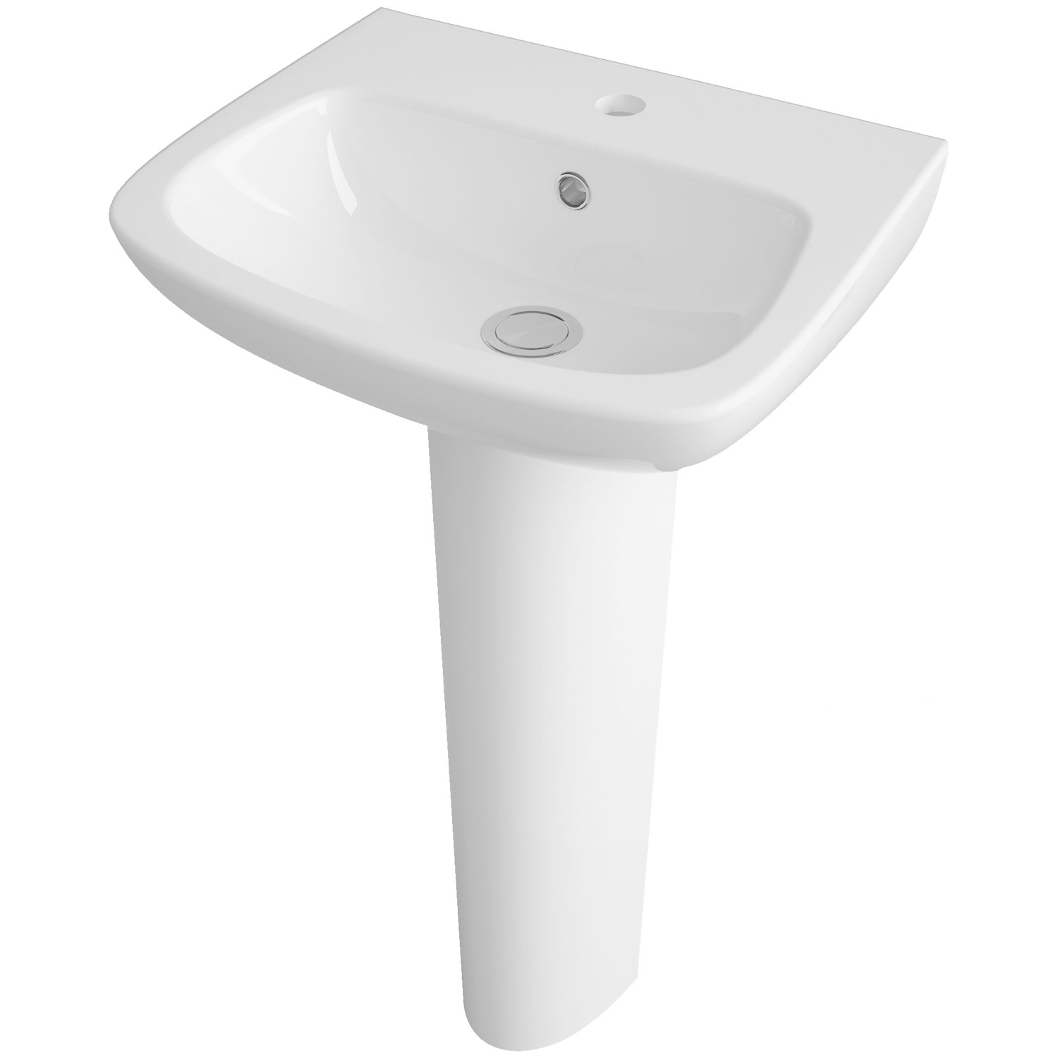 Premier Ambrose Basin and Full Pedestal 450mm Wide 1 Tap Hole