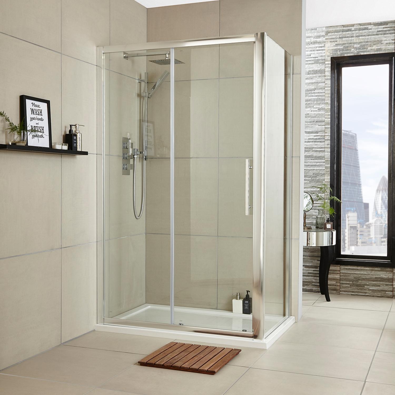 Premier Apex Sliding Shower Door 1000mm Wide - 8mm Glass