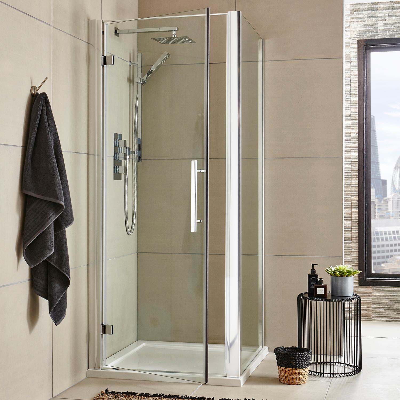Premier Apex Hinged Shower Door 800mm Wide - 8mm Glass