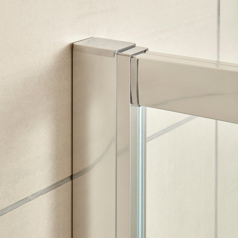 Premier Apex Hinged Shower Door 900mm Wide - 8mm Glass