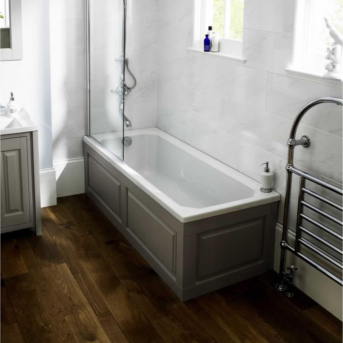 Premier Ascott Double Ended Rectangular Bath 1800mm x 800mm 0 Tap Hole