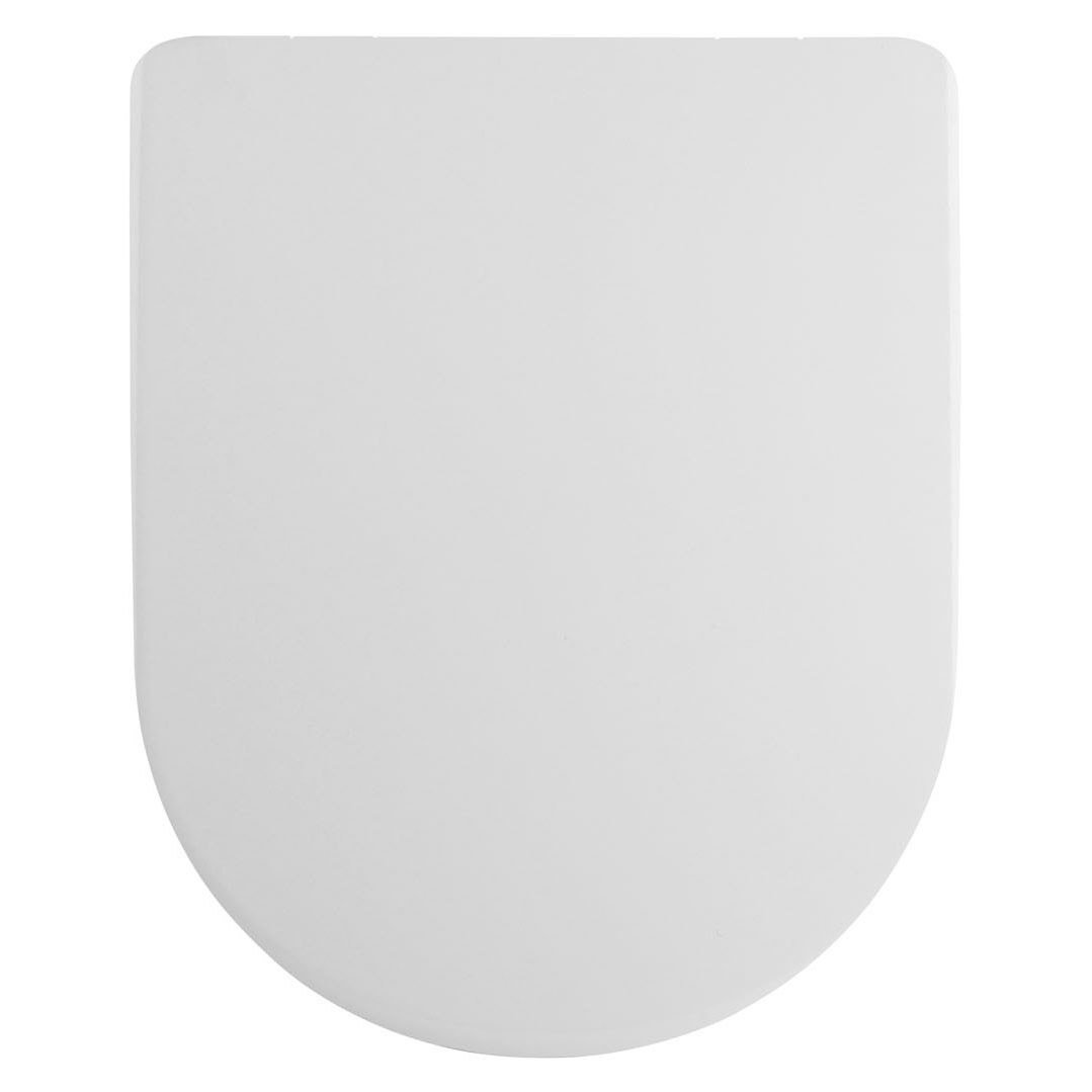Premier Asselby D-Shape Thermoplastic Toilet Seat, Soft Close Hinge, White