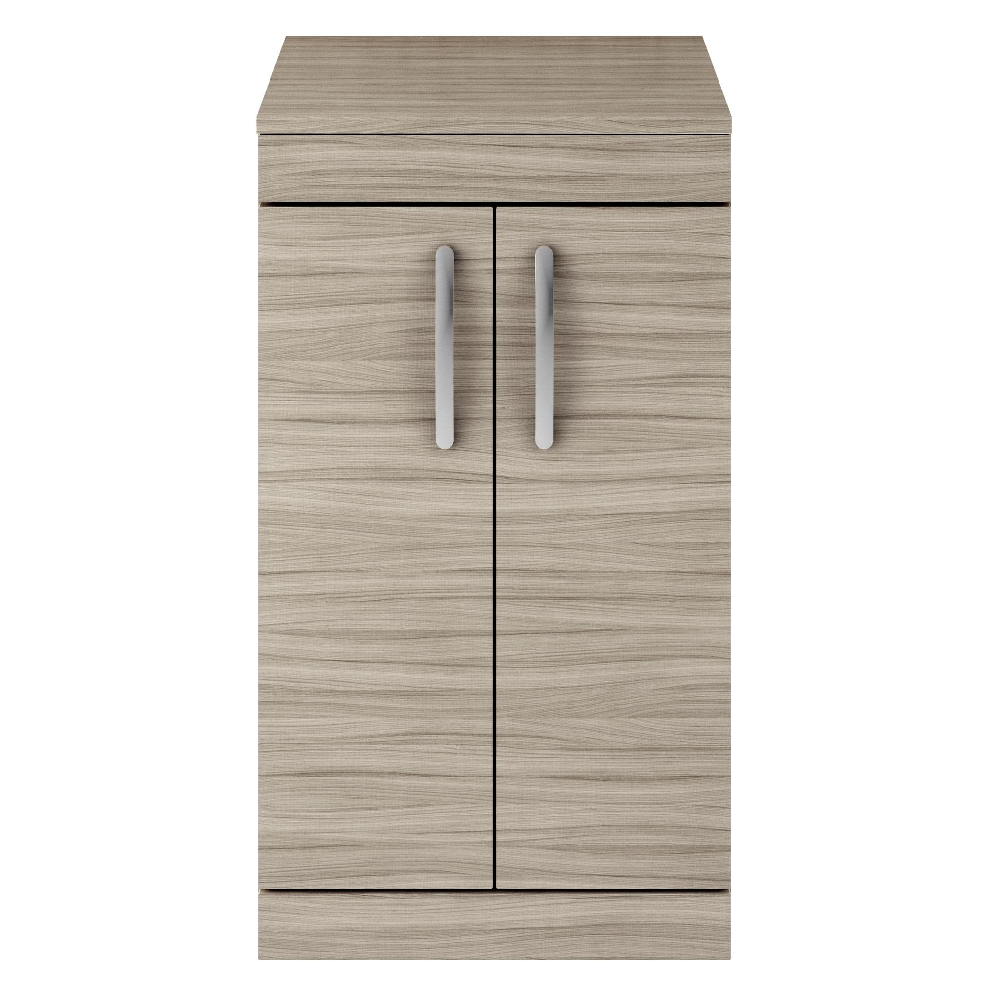 Premier Athena Floor Standing 2-Door Vanity Unit and Worktop 500mm Wide - Driftwood