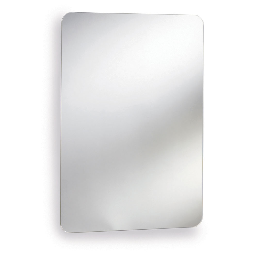 Premier Austin Mirrored Cabinet 660mm H x 460mm W Stainless Steel-0