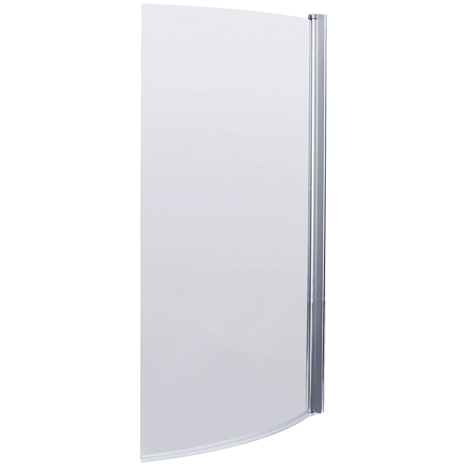 Premier B Shaped Shower Bath Screen, 1435mm High X 850 870mm Wide,