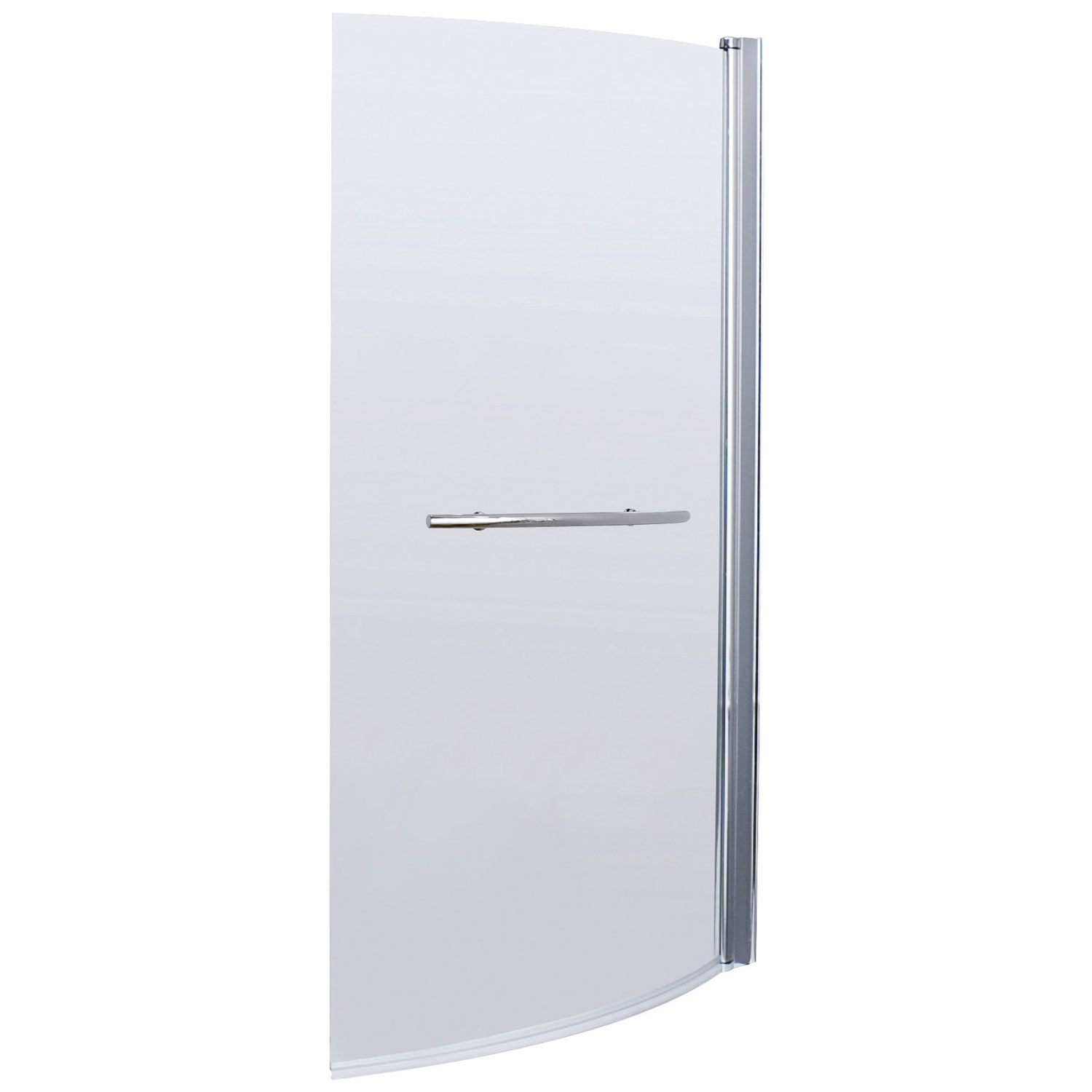 Premier B-Shaped Shower Bath Screen with Rail, 1435mm High x 850-870mm Wide, 6mm Glass