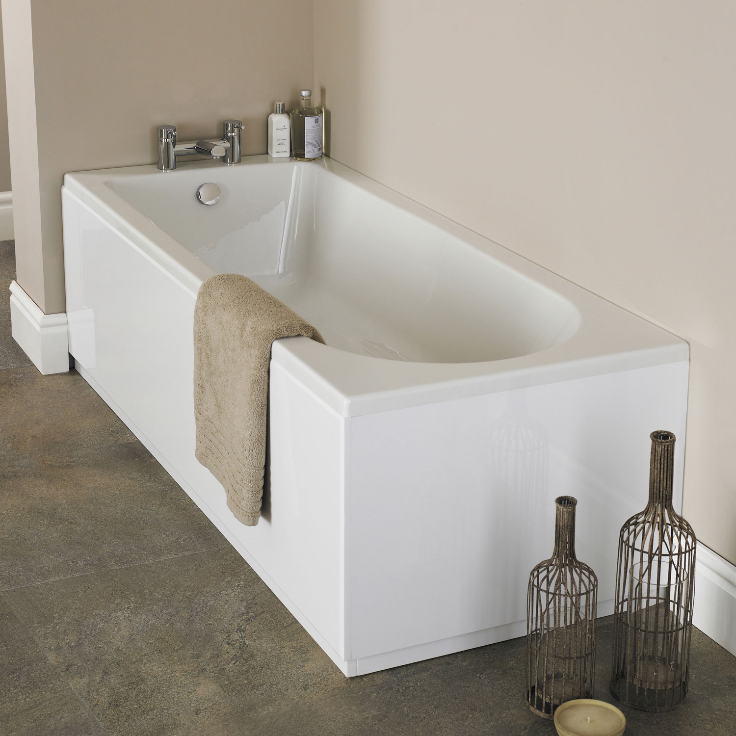 Premier Barmby Single Ended Rectangular Bath 1500mm x 700mm - Acrylic