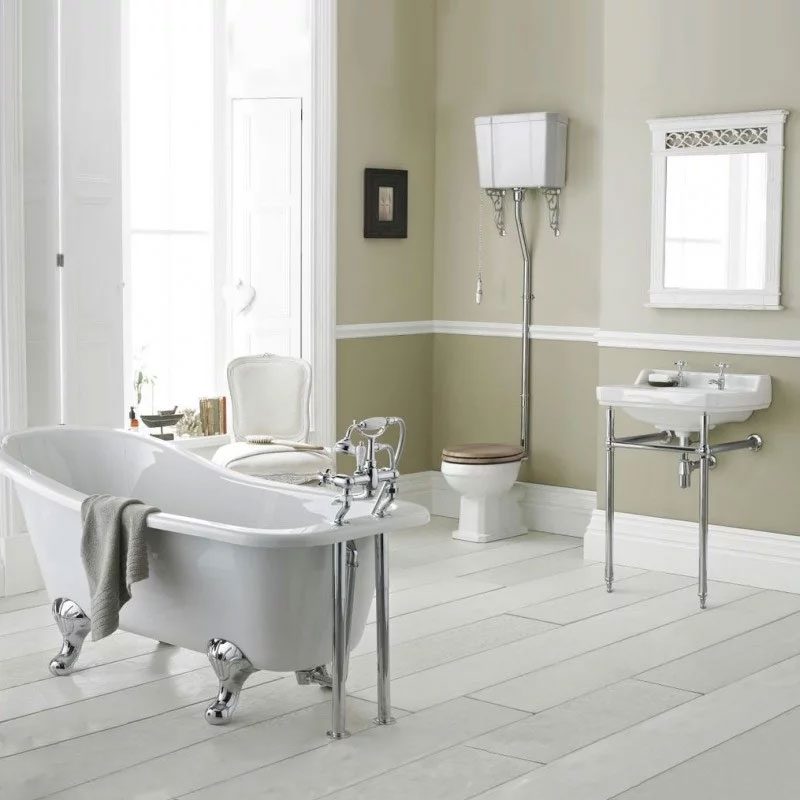Premier Carlton Basin with Washstand 560mm Wide - 3 Tap Hole