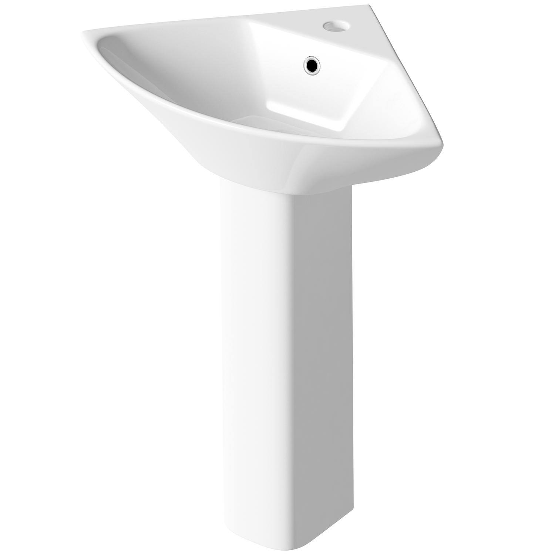 Premier Carmela Bathroom Suite 1 Tap Hole-0
