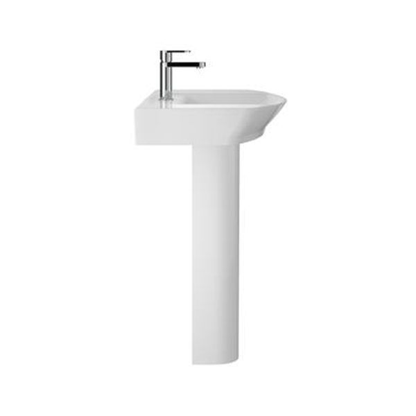 Hudson Reed Clara Basin with Full Pedestal 550mm Wide - 1 Tap Hole