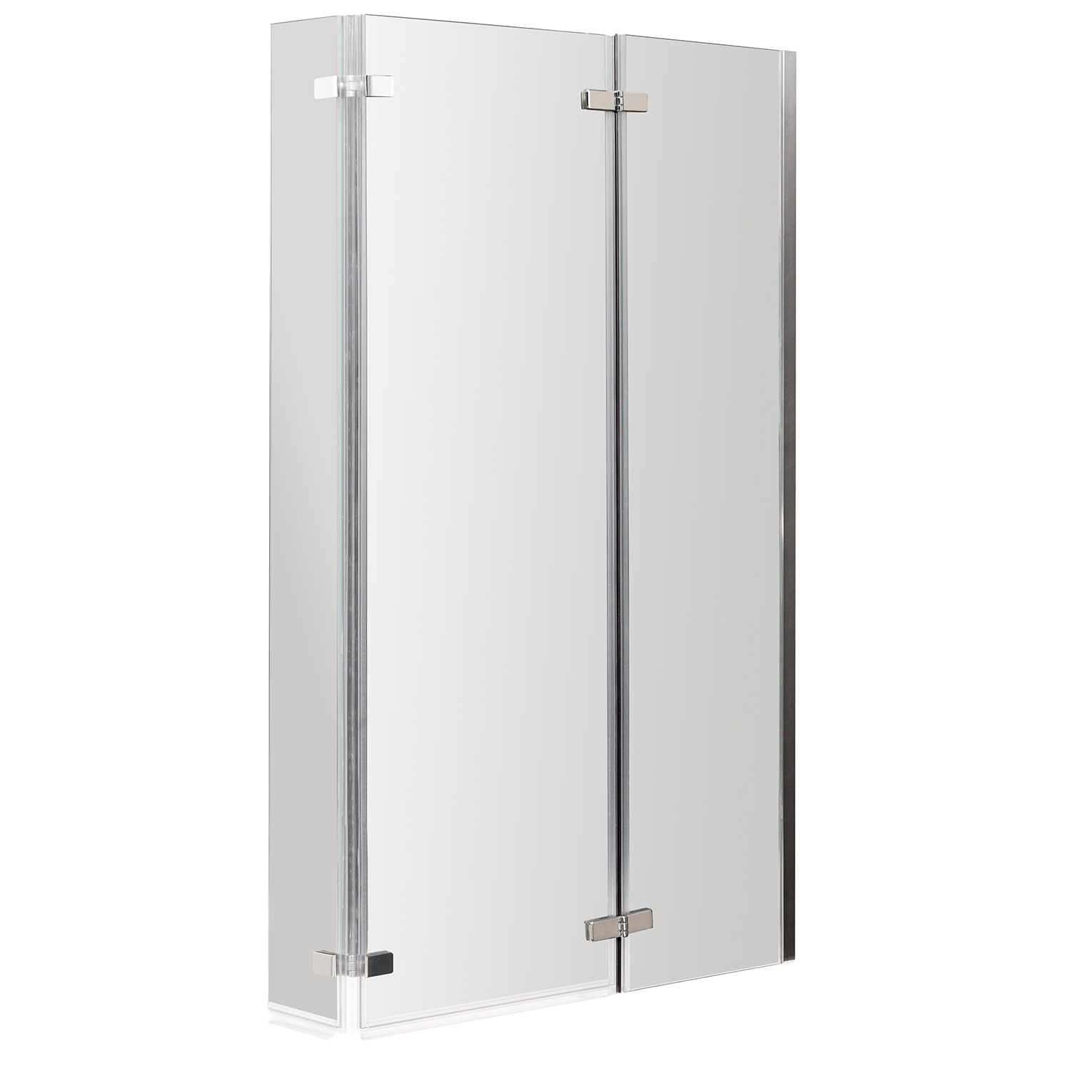 Premier Cove L-Shaped Shower Bath Panel Hinged Screen 1700mm x 700mm/850mm Left Handed-1