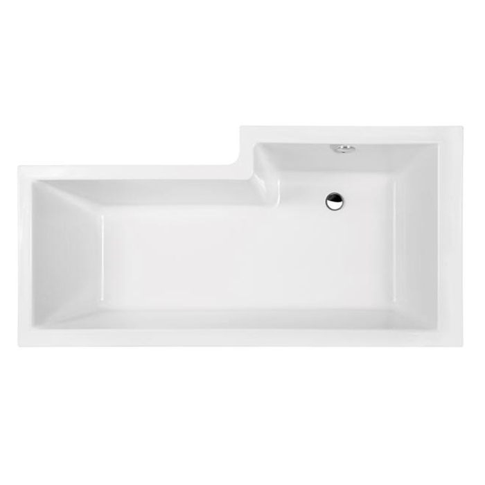 Premier Cove L-Shaped Shower Bath Panel Hinged Screen 1700mm x 700mm/850mm Left Handed-2