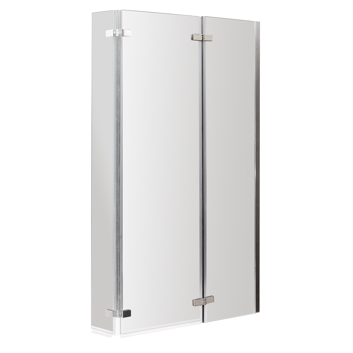 Premier Cove L-Shaped Shower Bath Panel Hinged Screen 1700mm x 700mm/850mm Right Handed