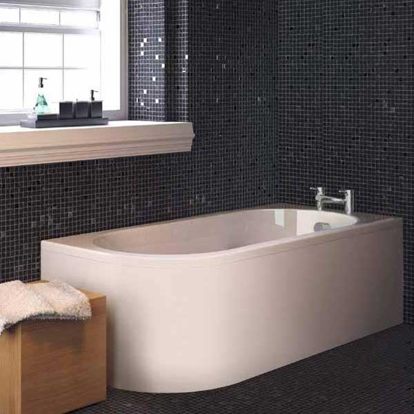 Premier Crescent Back to Wall Single Ended Bath and Panel 1700 x 725 Left Handed