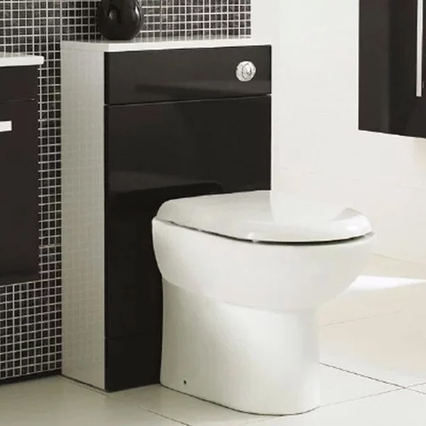 Premier Design Back to Wall WC Toilet Unit 500mm Wide High Gloss Black-0