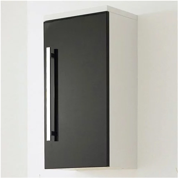 Premier Design Small Storage Cupboard 350mm Wide - High Gloss Black