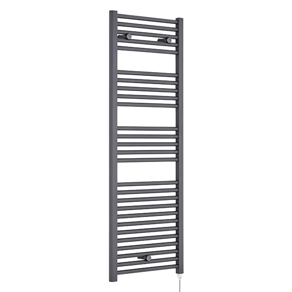 Premier Electric Heated Towel Rail 1375mm H x 480mm W Anthracite
