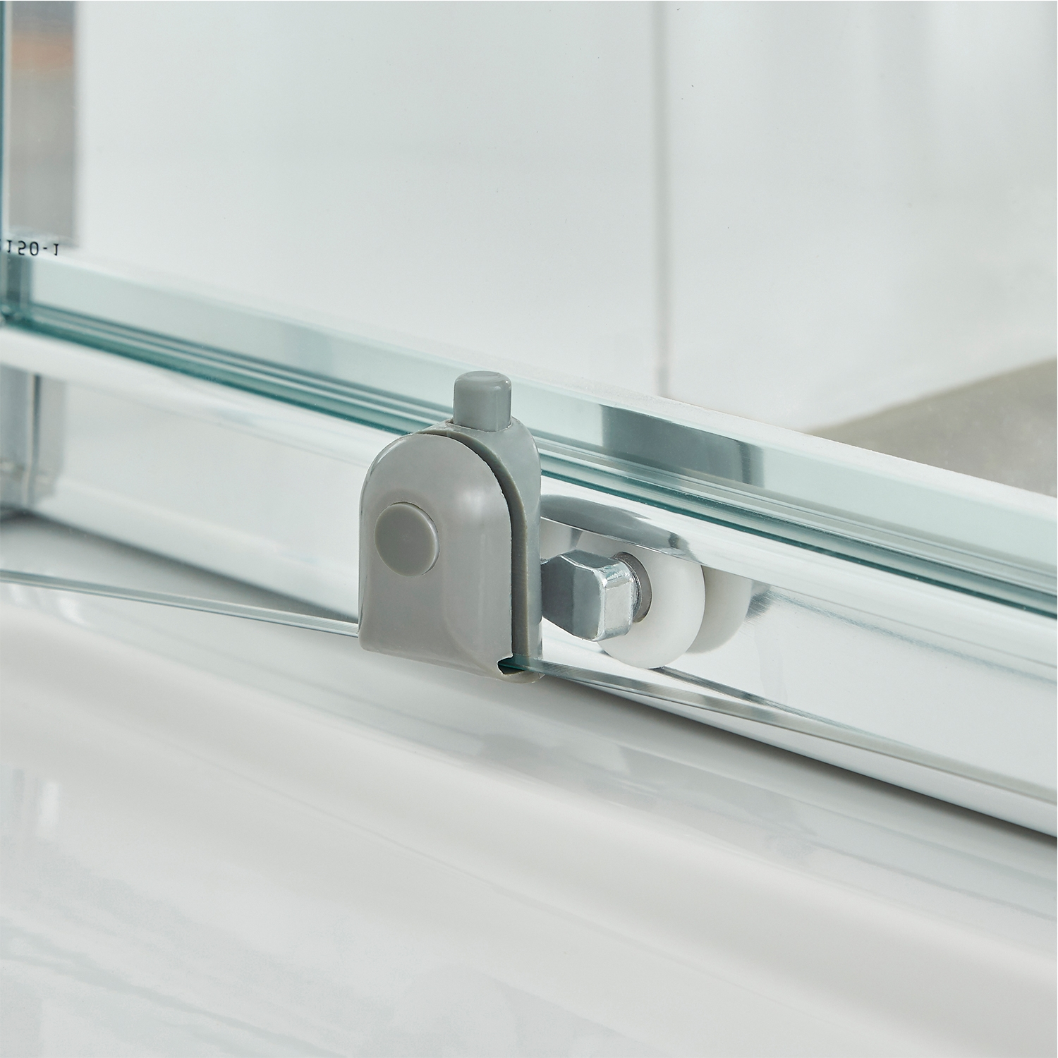 Premier Ella Sliding Shower Door 1000mm Wide - 5mm Glass Chrome