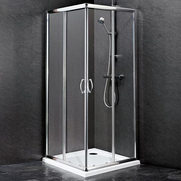 Premier Ella Corner Entry Shower Enclosure 760mm x 760mm - 5mm Glass-0