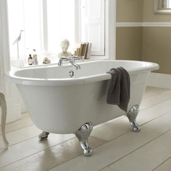 Premier Grosvenor Freestanding Bath, 1700mm x 745mm, Pride Leg Set