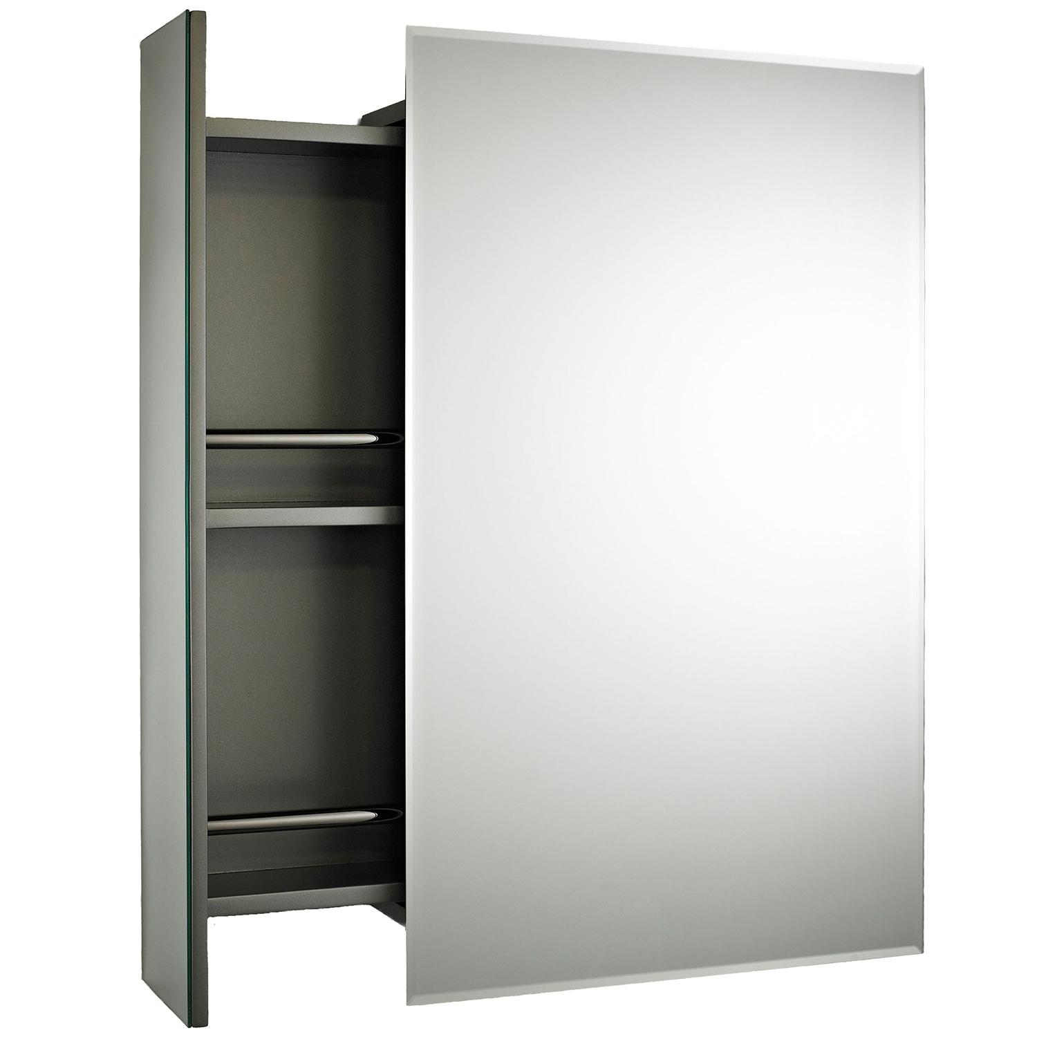 Premier Intrigue Mirrored Bathroom Cabinet 750mm H x 460mm W Stainless Steel-0