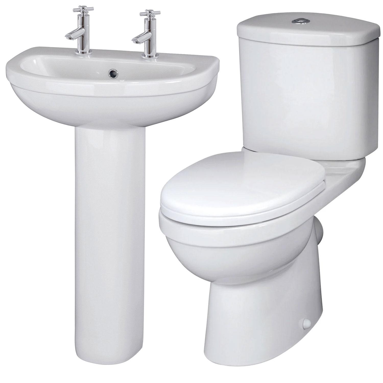 Premier Ivo Bathroom Suite 2 Tap Hole