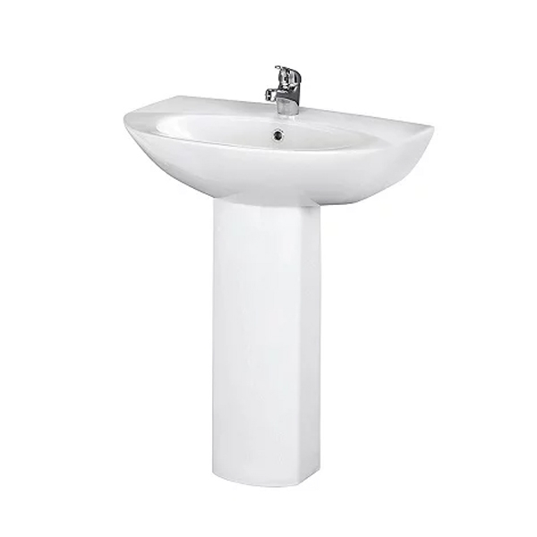 Premier Knedlington Bathroom Suite Close Coupled Toilet 1 Tap Hole Basin