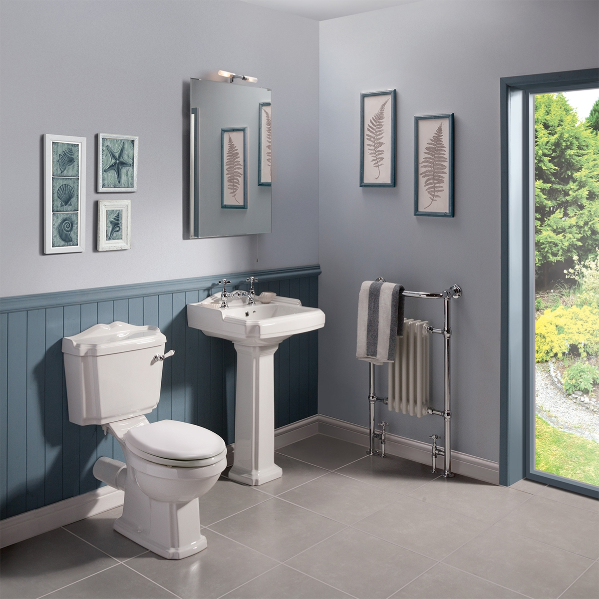 Premier Legend Close Coupled Toilet WC Lever Cistern - Standard Seat
