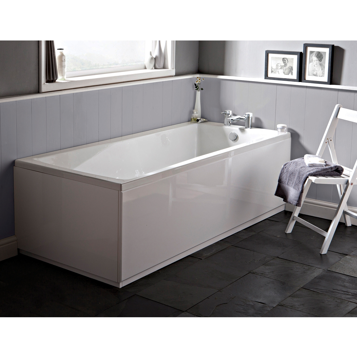 Hudson Reed Linton Single Ended Rectangular Bath 1700mm x 700mm - Eternalite-0