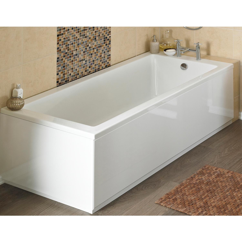 Premier Linton Single Ended Rectangular Bath 1500mm x 700mm - Acrylic