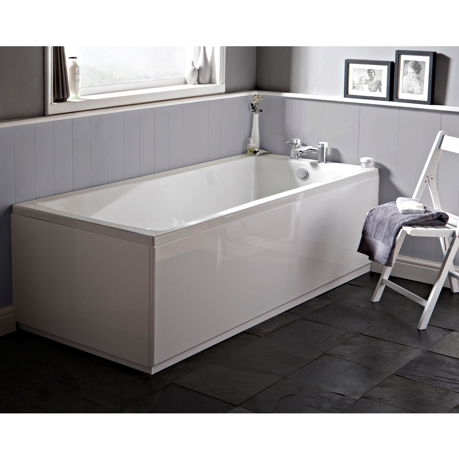 Premier Linton Single Ended Rectangular Bath 1700mm x 750mm - Acrylic