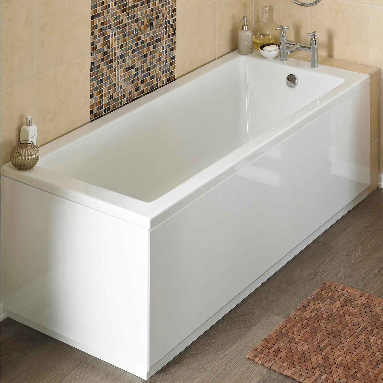 Premier Linton Single Ended Rectangular Bath 1800mm x 800mm - Acrylic