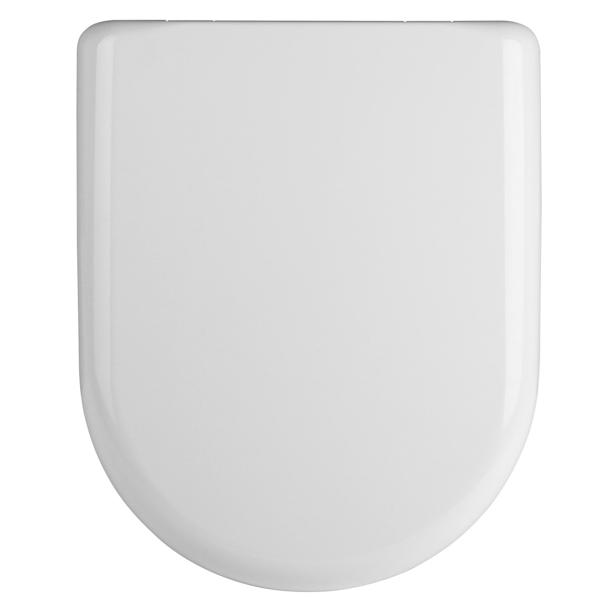 Premier Luxury D-Shaped Thermoplastic Toilet Seat, Soft Close Hinge, White-0