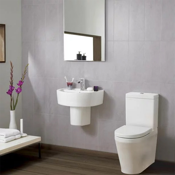 Premier Marlow Comfort Basin and Semi Pedestal 420mm Wide - 1 Tap Hole