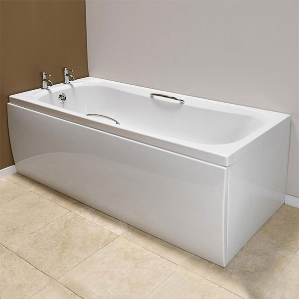 Premier Marshall Rectangular Bath with Grips 1600mm x 700mm 4mm - Acrylic-0