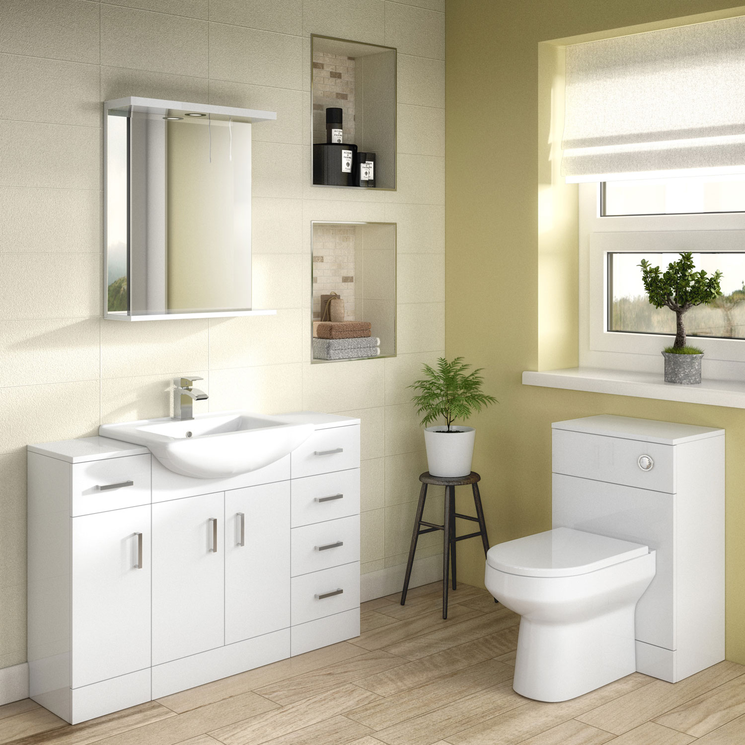 Premier Mayford Complementary Bathroom Mirror 550mm W White