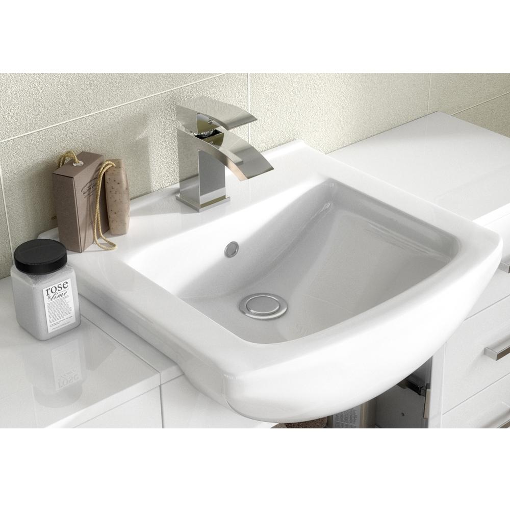 Premier Mayford 1-Door Bathroom Vanity Unit with Basin 450mm Wide - 1 Tap Hole-0
