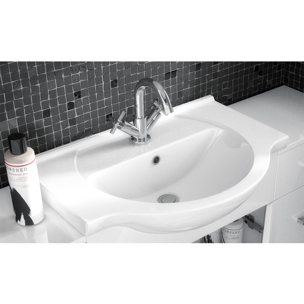 Premier Mayford Bathroom Vanity Unit with Basin 450mm Wide - 1 Tap Hole-0