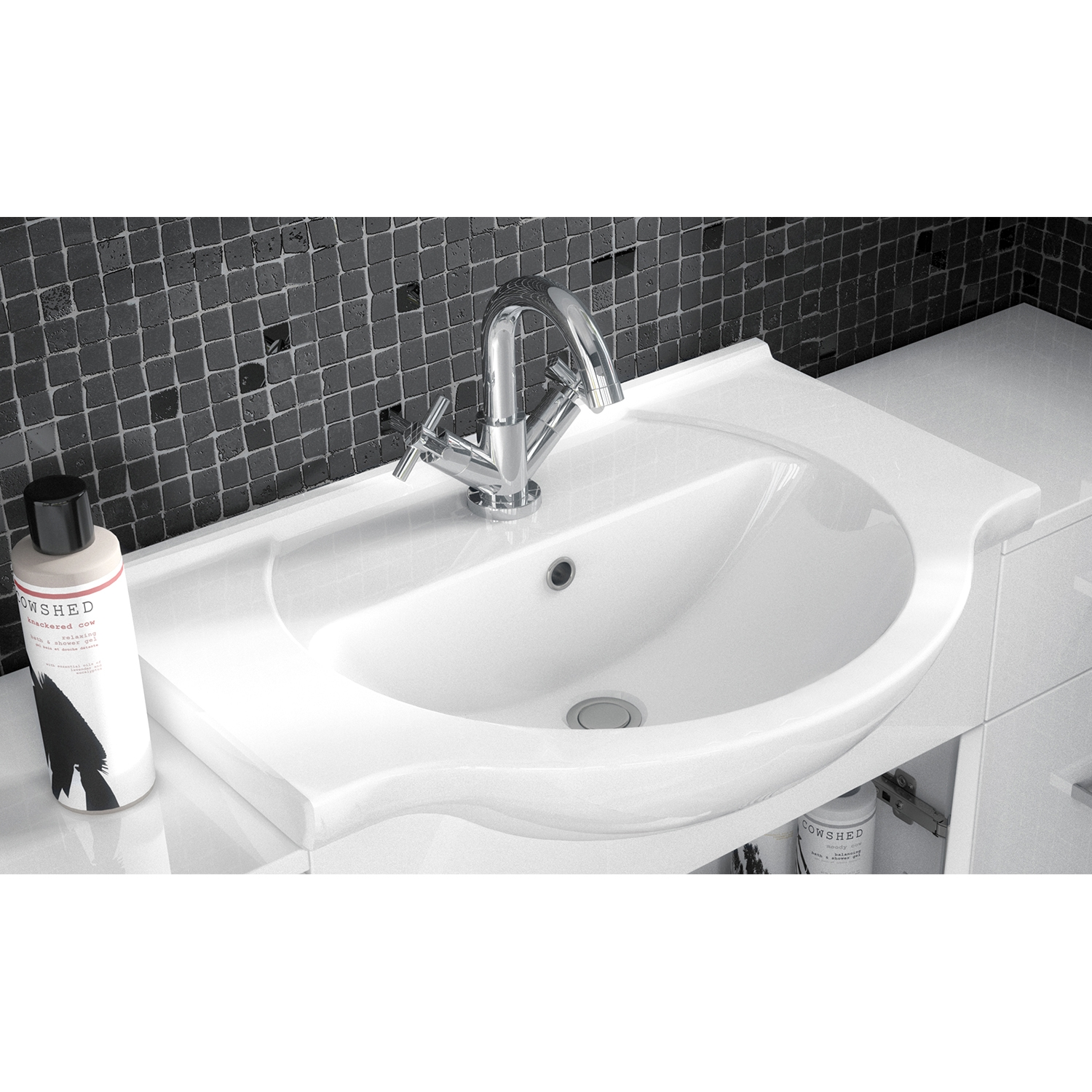 Premier Mayford Bathroom Vanity Unit with Basin 550mm Wide - 1 Tap Hole-1