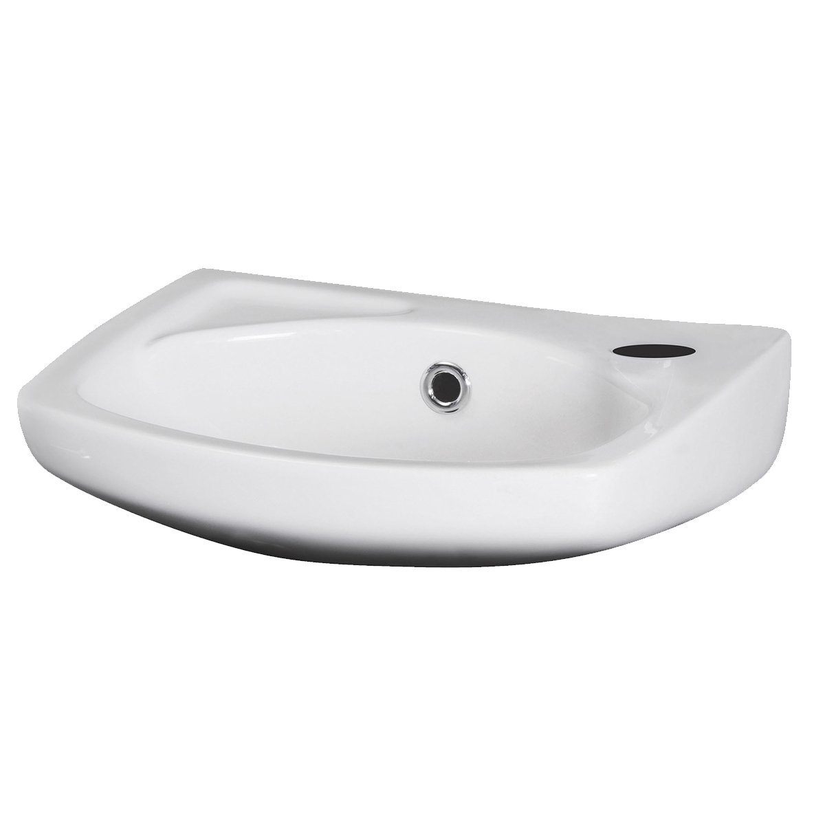 Premier Melbourne Wall Hung Cloakroom Basin 350mm Wide 1 Tap Hole