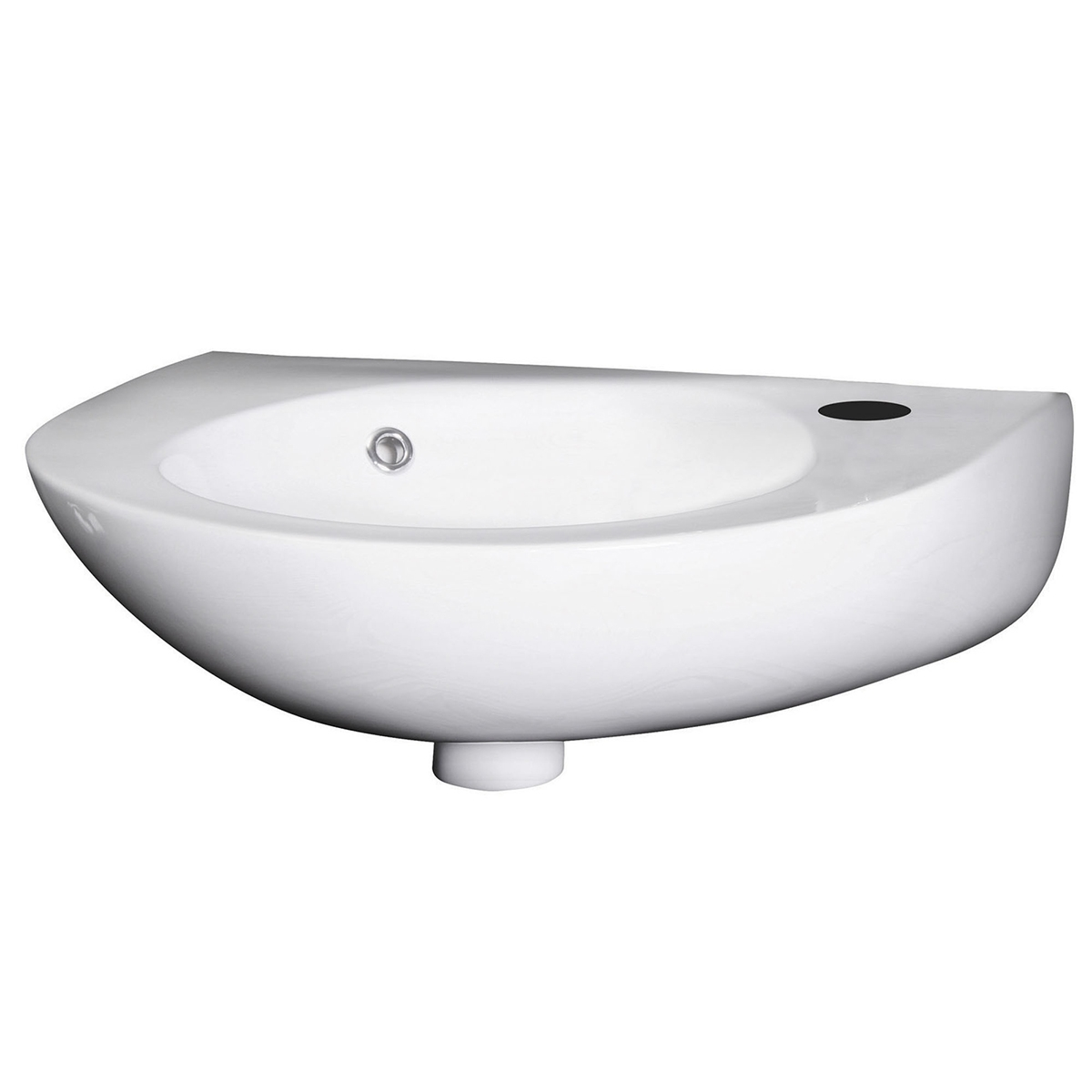 Premier Melbourne Rounded Wall Hung Cloakroom Basin 350mm Wide 1 Tap Hole