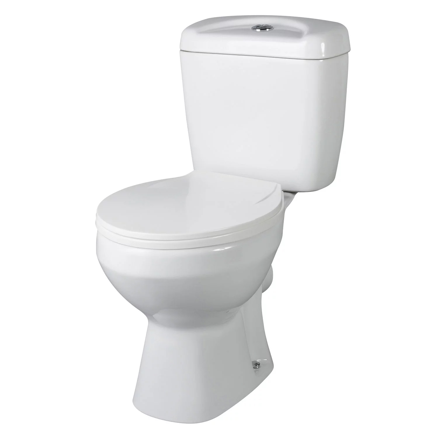 Nuie Melbourne Close Coupled Toilet with Push Button Cistern - Standard Seat