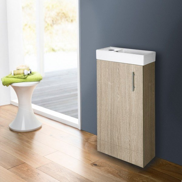 Premier minimalist vanity unit 475mm floor mounted for Bathroom cabinets 400mm wide