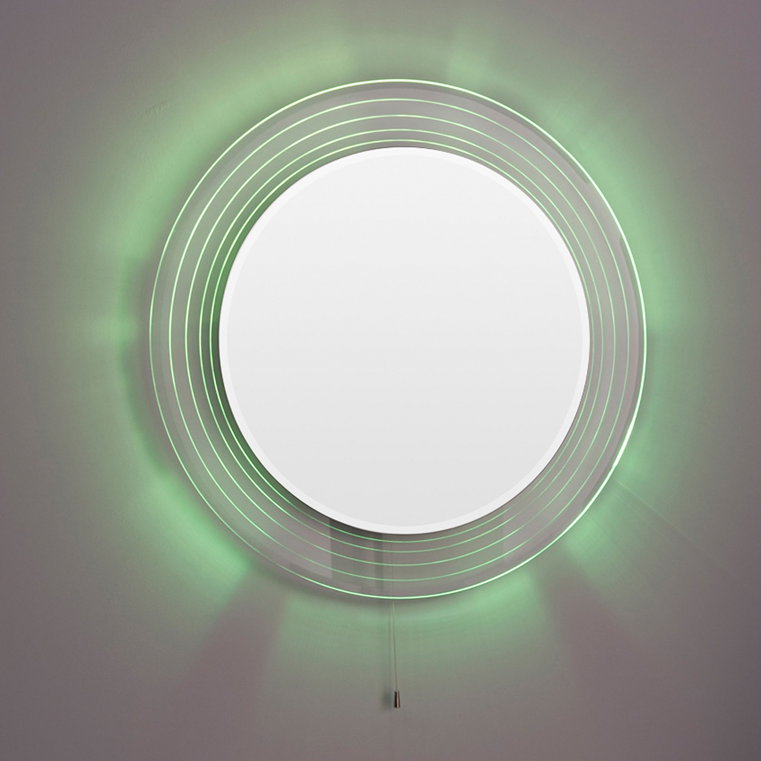 Premier Orpheus Colour Changing Bathroom Mirror, 600mm Diameter, Stainless Steel-0