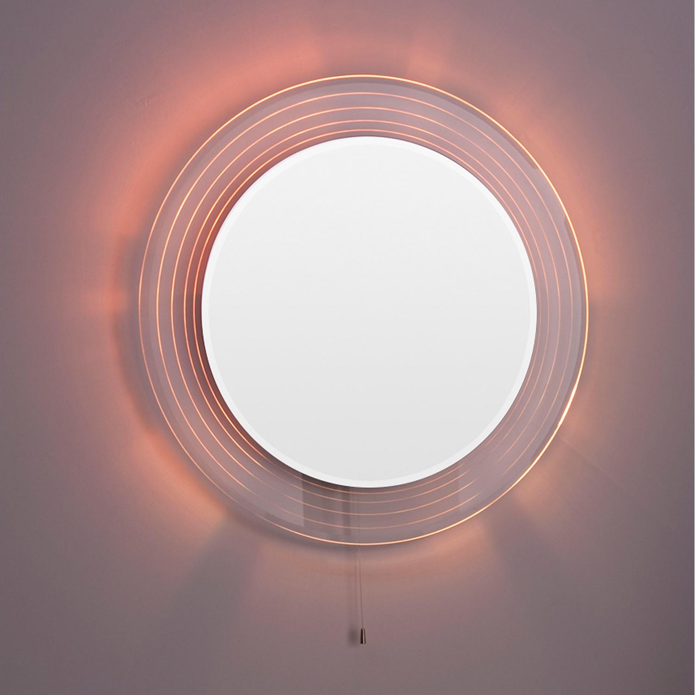 Premier Orpheus Colour Changing Bathroom Mirror, 600mm Diameter, Stainless Steel-1