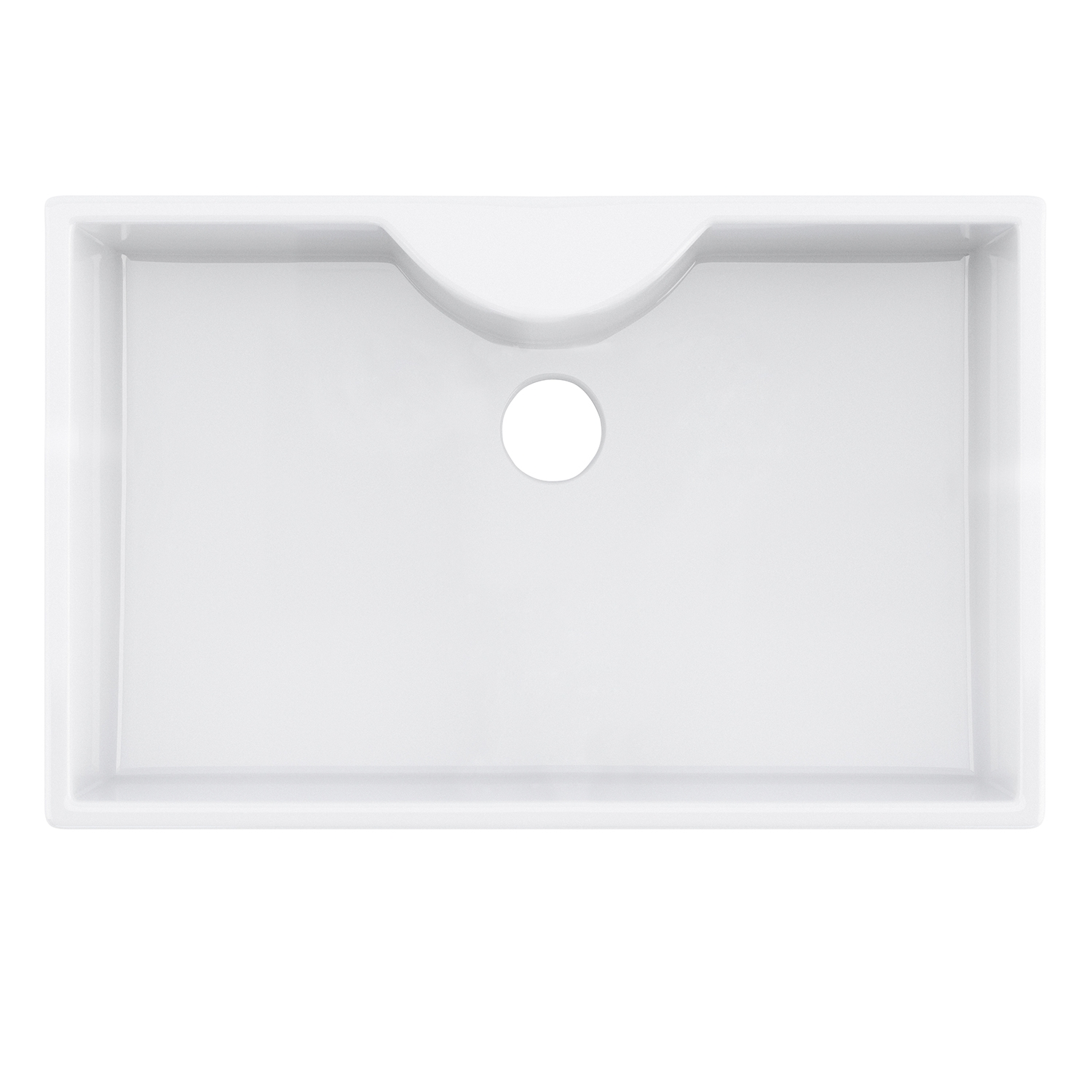 Premier Oxford Ceramic Kitchen Sink, 1.0 Bowl, White-1