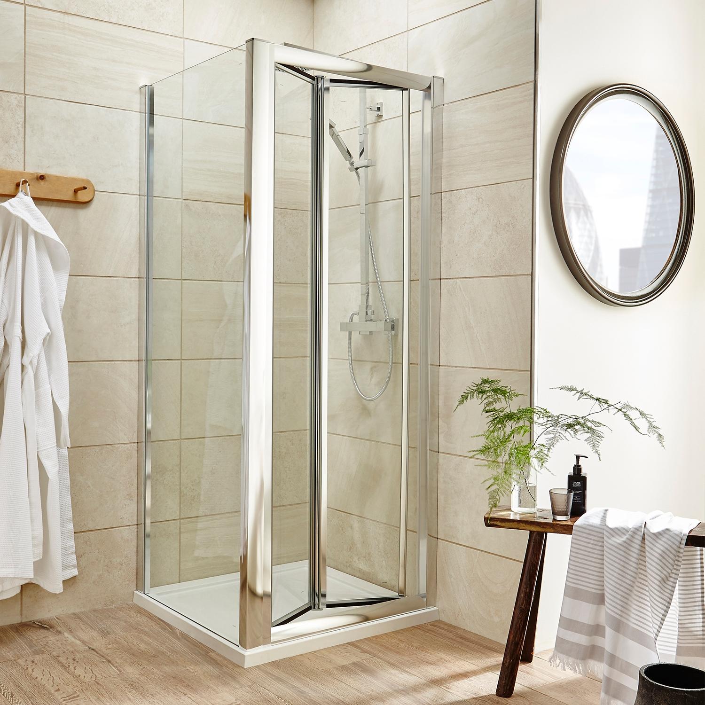 Premier Pacific Bi-Fold Shower Door 1200mm Wide - 4mm Glass